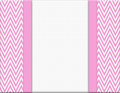 Pink And White Chevron Zigzag Frame With Ribbon Background Stock Image - 43325741