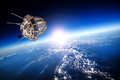 Space Satellite Over The Planet Earth Royalty Free Stock Image - 43333046