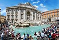 Fountain Di Trevi - Most Famous Rome S Place Royalty Free Stock Photography - 43335157