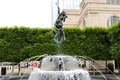 Statue And Water Fountain At The Schermerhorn Symphony Center Nashville Royalty Free Stock Photo - 43351415