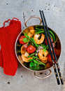 Shrimps Stir Fry Stock Image - 43353031