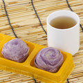 Taro Purple Bread Chinese Style Stock Photography - 43353142