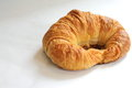 One Butter Croissant On White Background. Stock Image - 43355541