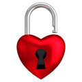 Heart Lock Isolated White Background Royalty Free Stock Photo - 43358855