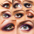 Collection Beautiful Womanish Eye With Glamorous Makeup Royalty Free Stock Photography - 43362257