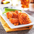 Boneless Buffalo Chicken Wings With Celery And Ranch Royalty Free Stock Photography - 43365307