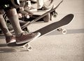Skaters Royalty Free Stock Photo - 43365985