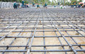 Reinforce Iron Cage Net For Built Building Floor In Construction Royalty Free Stock Photography - 43366807