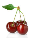 Sweet Cherries With The Leaf Stock Photography - 43366882