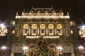 House Of Opera In Budapest At Christmastime Stock Photography - 43368962