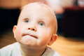 Little Child Baby Boy Close Up Portrait Royalty Free Stock Photography - 43370057