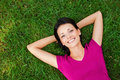 Relaxing In Grass. Royalty Free Stock Photo - 43374125