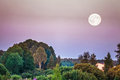 Big Moon Over The Field Royalty Free Stock Photo - 43375815
