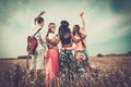 Multi-ethnic Hippie Friends On A Road Trip Stock Photo - 43383740