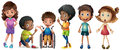 A Group Of Kids Stock Images - 43387594