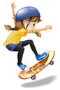 A Female Skateboarder Royalty Free Stock Image - 43387656