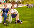 People In The Park Royalty Free Stock Image - 43390976
