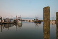 Oyster And Clam Fishing Trawlers Docked At Sunset Stock Images - 43409044