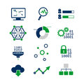 Data Analytic Icons Set Royalty Free Stock Images - 43412459