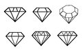 Diamond Vector Icons Set Stock Images - 43415064
