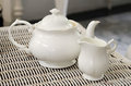 Teapot With Little Milk Jar Royalty Free Stock Photo - 43420675
