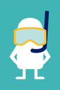 Animated Personality Diver Royalty Free Stock Photo - 43423445