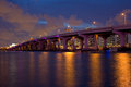 MacArthur Causeway Royalty Free Stock Photography - 43438497