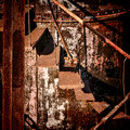 Rust Structure Abandoned Rusty Industrial Stairs Royalty Free Stock Photo - 43439215