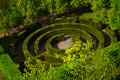 Round Shape Labyrinth Green Bush In Luxembourg Stock Photo - 43439890