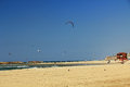 Kite Surfing On The Mediterranean Sea In Israel Royalty Free Stock Images - 43442229