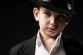 Portrait Of A Boy In An Image Of The Gangster Royalty Free Stock Photos - 43443798