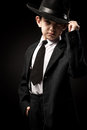 Portrait Of A Boys In An Image Of The Gangsters Stock Photos - 43443873