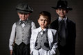Portrait Of A Boys In An Image Of The Gangsters Royalty Free Stock Images - 43443889