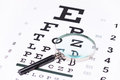 Studio Shot Of A Magnifying Glass On An Eye Chart Royalty Free Stock Photo - 43446695