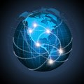 North American And South America Connected On Globe Royalty Free Stock Image - 43447276