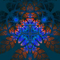 Multicolor Fabulous Fractal Pattern. Collectiont - Tree Foliage. Royalty Free Stock Image - 43450186