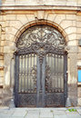 Beautiful Art Nouveau Door Gate Royalty Free Stock Photography - 43453047