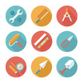 Trendy Flat Working Tools Icons. Vector Illustration Royalty Free Stock Photos - 43454618