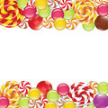 Borders With Candies And Lollipops Royalty Free Stock Image - 43456196