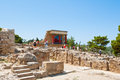 CRETE,GREECE-JULY 21: Tourists At The Knossos Palace On July 21,2014 On The Crete Island In Greece. Knossos Palace Is The Largest Royalty Free Stock Images - 43456459