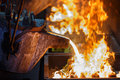 Metal Pouring In Casting Line Production Stock Photography - 43459582