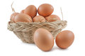 Eggs In Basket Stock Images - 43460534