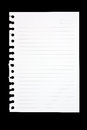 Torn Sheet Of Paper From Spiral Notebook Royalty Free Stock Photography - 43461507