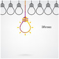 Creative Light Bulb Difference Idea Concept Background Stock Image - 43462971