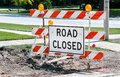 Road Closed Sign Royalty Free Stock Photos - 43465498