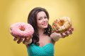 Sexy Woman With Sweets Stock Images - 43466854