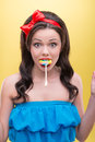 Sexy Woman With Sweets Royalty Free Stock Photos - 43469198