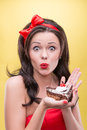 Sexy Woman With Sweets Stock Photo - 43469550