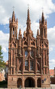 Gothic Style St. Anne Church In VIlnius, Lithuania Royalty Free Stock Photo - 43482295