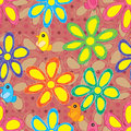Flower Circle Draw Seamless Pattern Royalty Free Stock Photo - 43488185